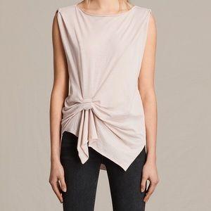 All Saints Rivi Vest top Pink Small cotton blend